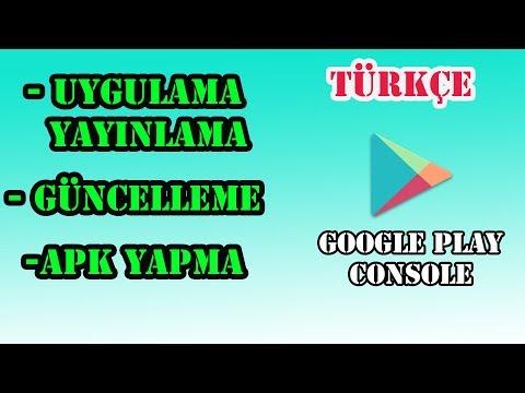 Google Play Store Uygulama Yapma - Yayınlama - Güncelleme(Detaylı)