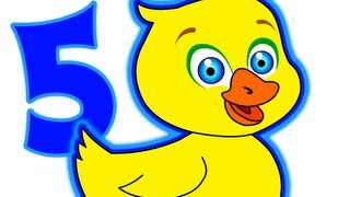"""Five Little Ducks Song"" - Kindergarten, Toddler, Nursery Rhymes, Kids Songs, 5 Little Ducks"