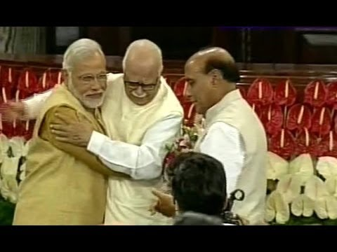 Narendra Modi, LK Advani With Watery Eyes, High Emotion In parliament