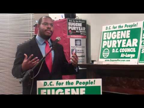 Eugene Puryear at the D.C. for the People Pre-primary Meet-and-greet on March 29, 2014
