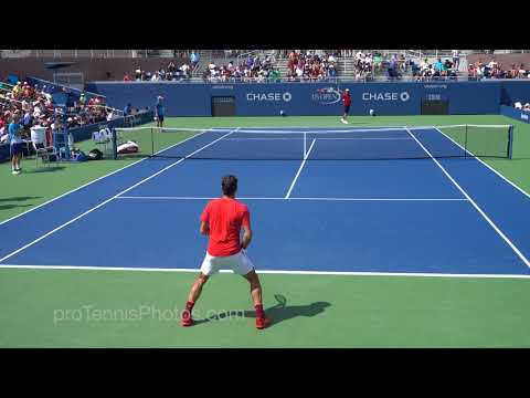 Federer V McDonald, 2017 US Open Practice, 4K