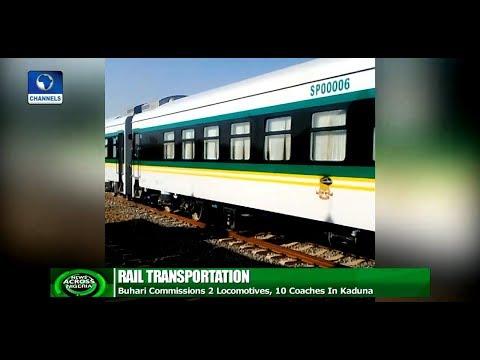 Buhari Inaugurates Additional Locomotives, Coaches In Kaduna |News Across Nigeria|