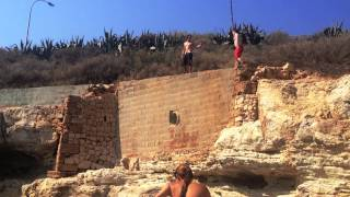 Cliff jumping in Palma de Mallorca