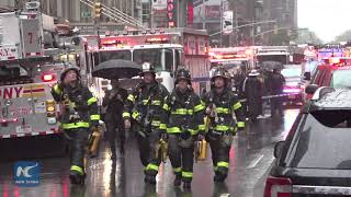 Pilot killed in helicopter crash on Manhattan building