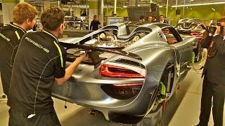 Porsche 918 Spyder, factory tour