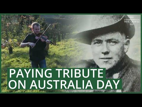 A CWGC tribute on Australia Day
