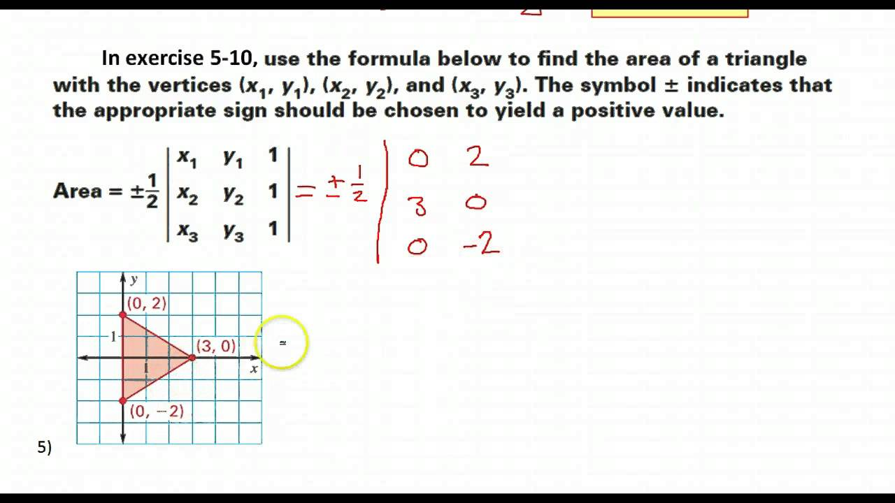 Day 06 Hw  Using Matrices To Find The Area Of A Triangle