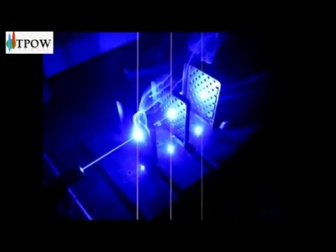 Htpow Laser Pointer Blue high power cut paper into pieces
