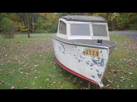 1953 mystery steel cabin cruiser time capsule boat # 1