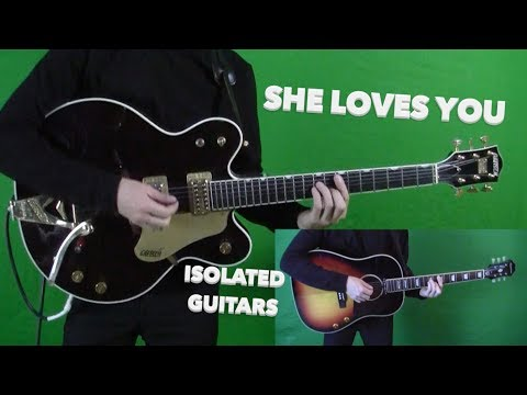 She Loves You - Lead and Rhythm Guitar Cover - John and George