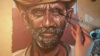 Speed Painting an Indian Portrait