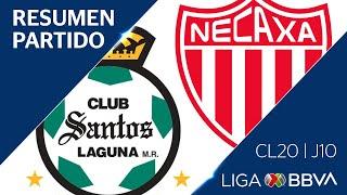 Resumen y Goles | Santos vs Necaxa | Jornada 10 - CL 2020 | Liga BBVA MX
