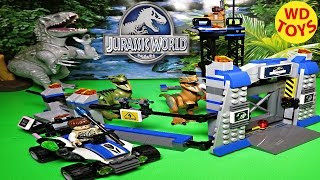 New Lego Jurassic World Raptor Escape 2015  Unboxing & Review 75920  By Wd Toys