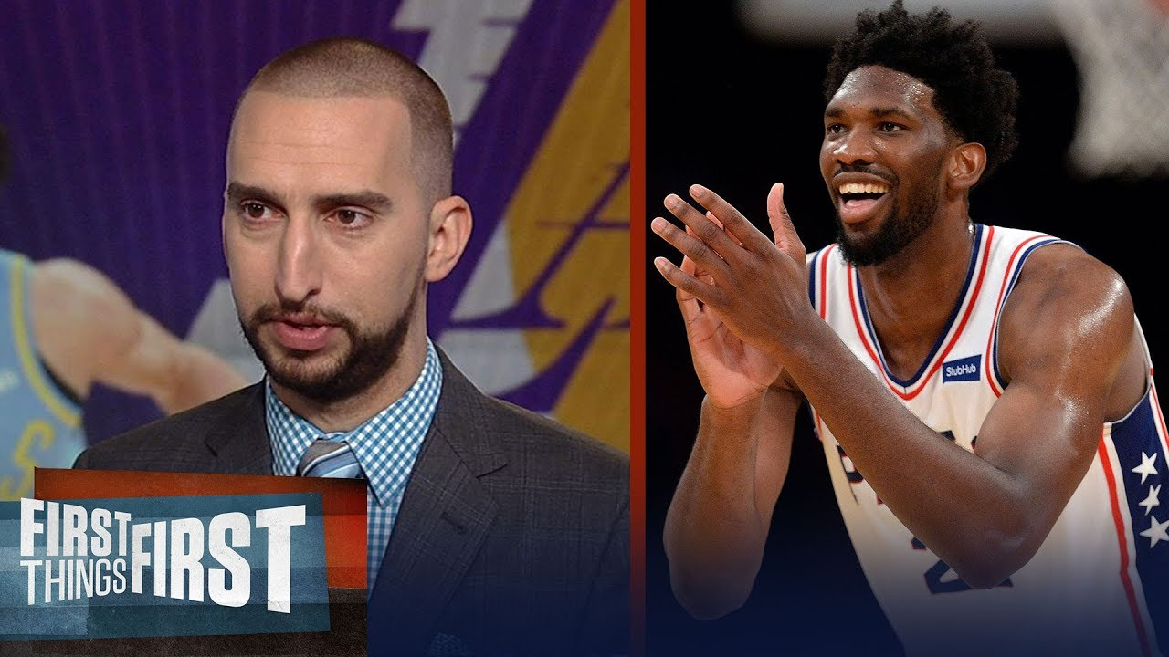 nick-wright-praises-joel-embiid-after-the-76ers-115-109-win-over-the-lakers-first-things-first