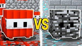 MINECRAFT TNT BLOCK vs BEDROCK BLOCK in Minecraft!