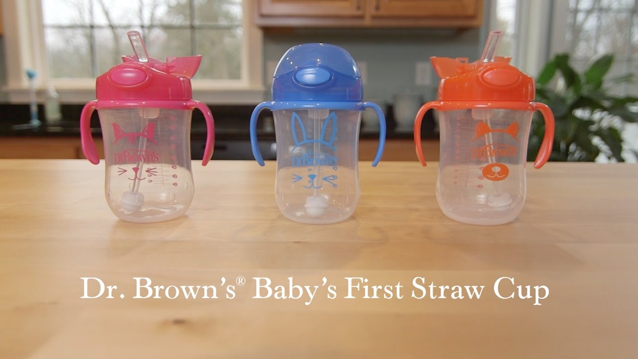 Straw Cup Dr Brown S Baby S First Straw Cup Youtube