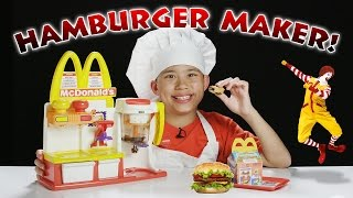 McDonald's HAMBURGER MAKER!!! Turn Peanut Butter into a HAMBURGER Snack! thumbnail