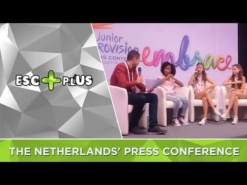 Junior Eurovision 2016: The Netherlands' press conference