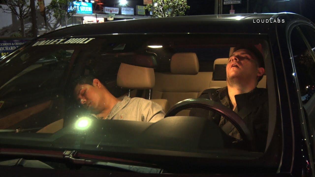 DUI Driver Asleep Behind Wheel / Winnetka   RAW FOOTAGE