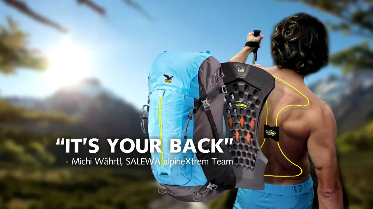 SALEWA backpack technologies - YouTube aa56ca49e5