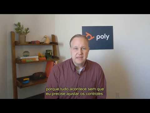 Poly Studio P15  Enquadramento automático  em Português