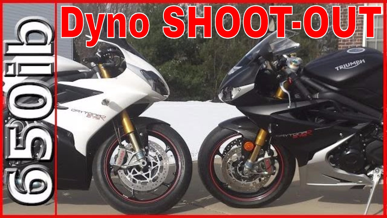 Triumph Daytona 675r Stock Vs Mods Dyno Shootout Youtube