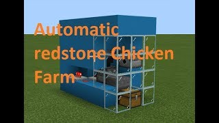 How to Make a Automatic Chicken Farm With Redstone In Mincraft