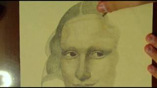 "Drawing ""The Mona Lisa Painting"" with Ballpoint Pen & Colored Pencils"