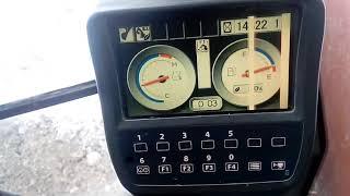 Экскаватор Hitachi 270. Обзор, панель управления, меню, сервисное меню, параметры работы двигателя.