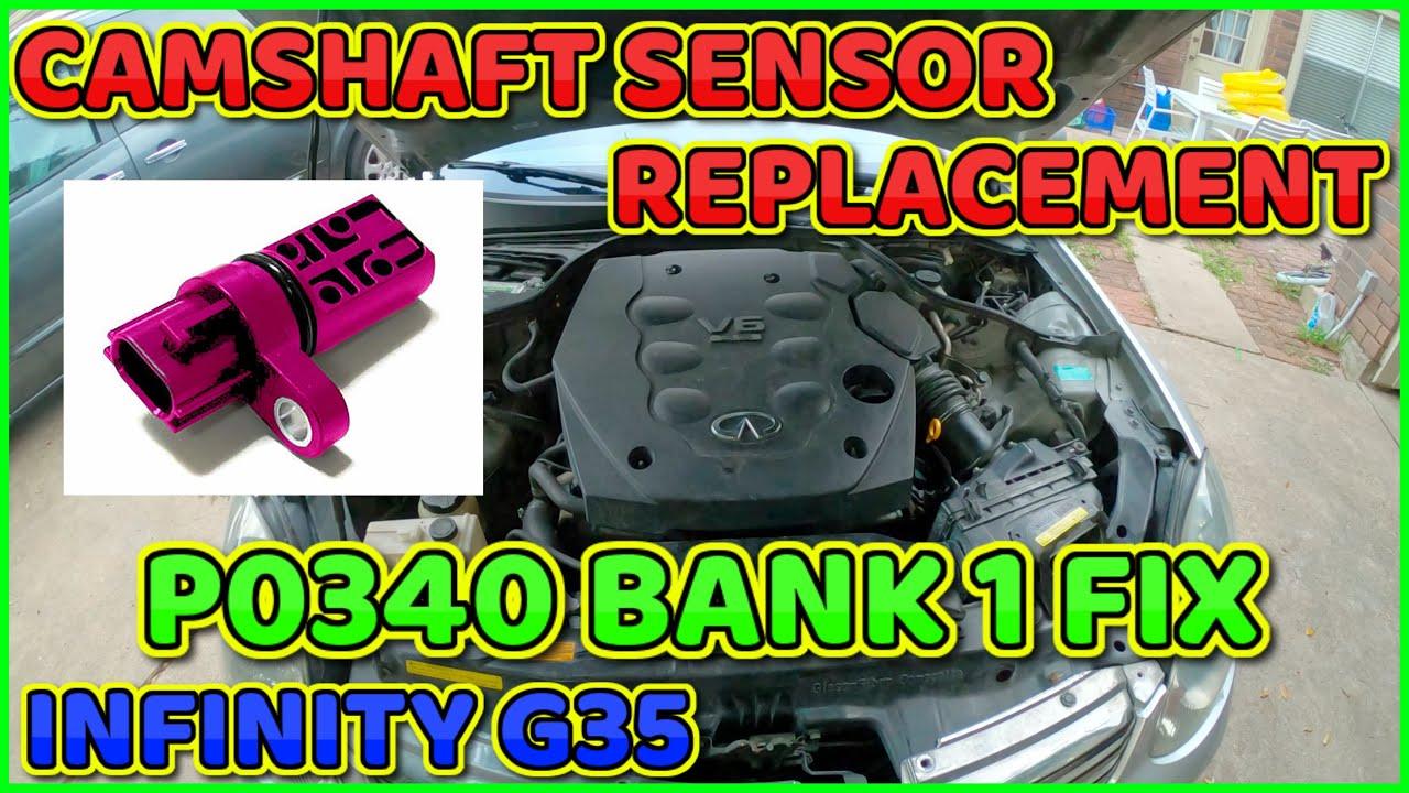 Infiniti G35 camshaft position sensor replacement Bank 1