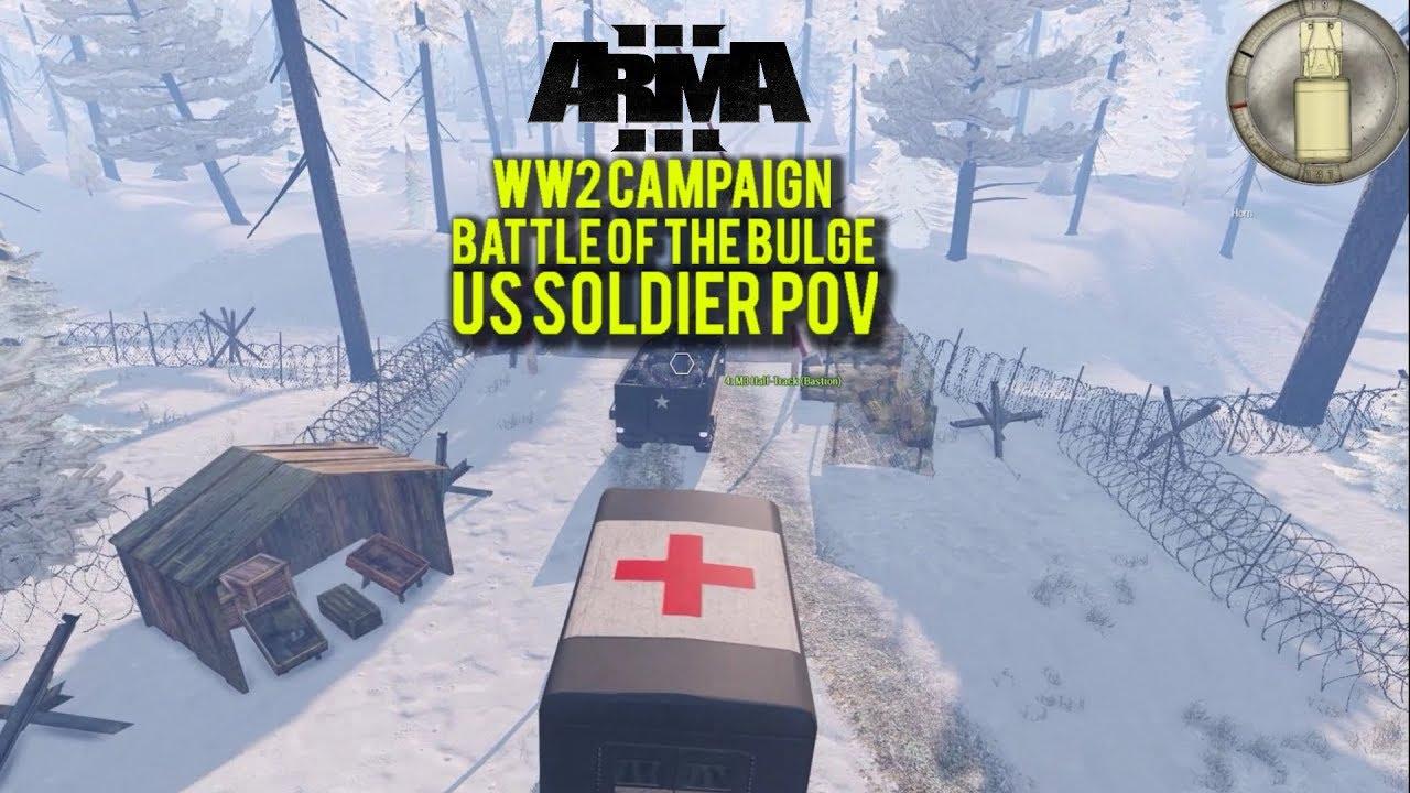 ARMA 3 - WW2 CAMPAIGN - Battle of the Bulge - US Soldier POV