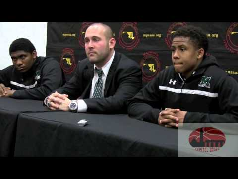 Milford Mill press conference after losing to Westlake in MD 3A state semi's 3-13-14