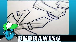 Graffiti Tutorial for beginners - How to draw cool letters K & L
