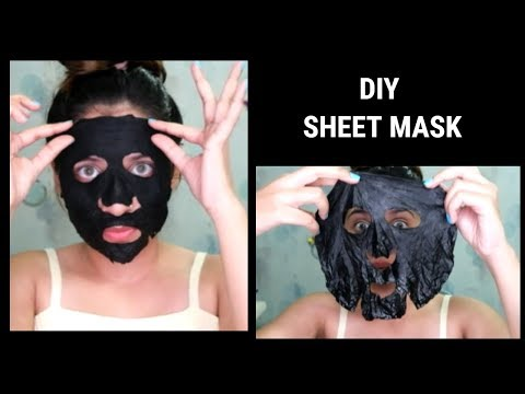 DIY sheet mask | How to make sheet mask at home.