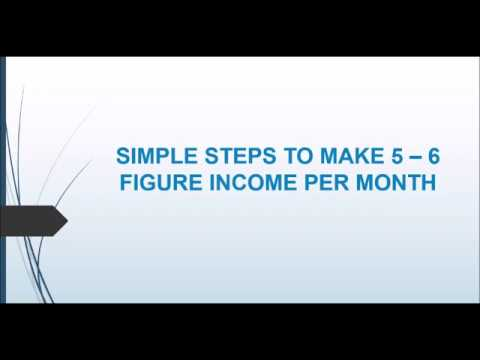 Simple Steps To Make 5 6 Figure Income Per Month Rise Thrive Marketing And Consultingcy