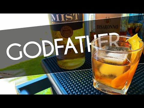 GODFATHER COCKTAIL | Whisky Cocktails At Home | Godfather Cocktail Disaronno | Rob's Home Bar