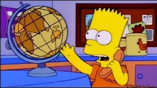 Bart calls Australia | THE SIMPSONS HD