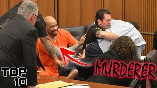 Top 10 Scary Courtroom Fights