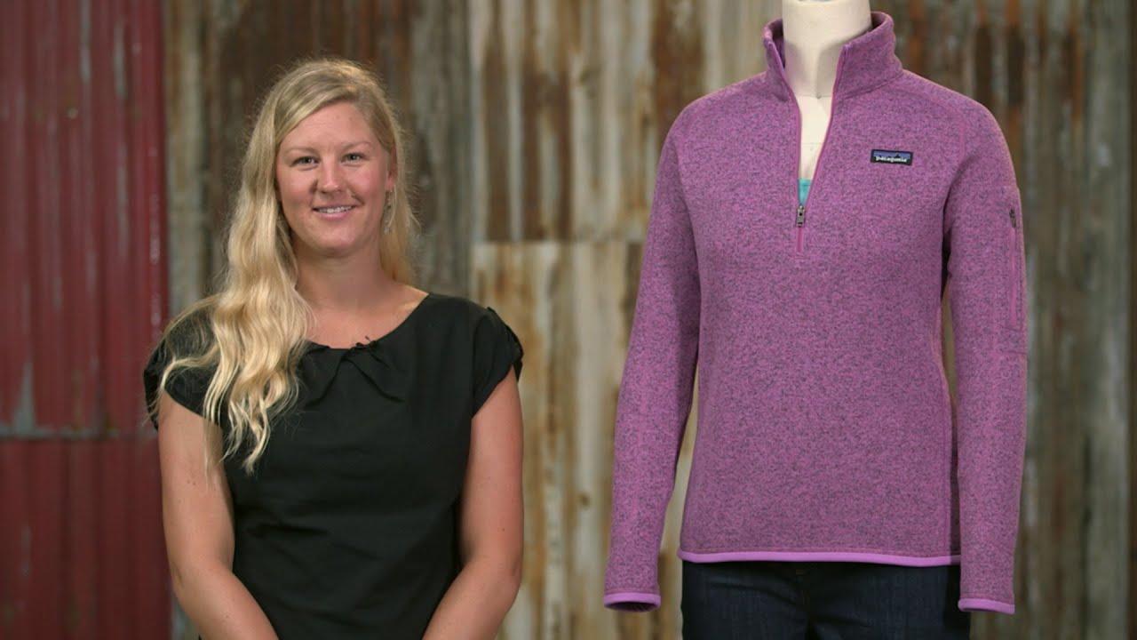 Patagonia Womens Better Sweater 14 Zip Fleece Youtube