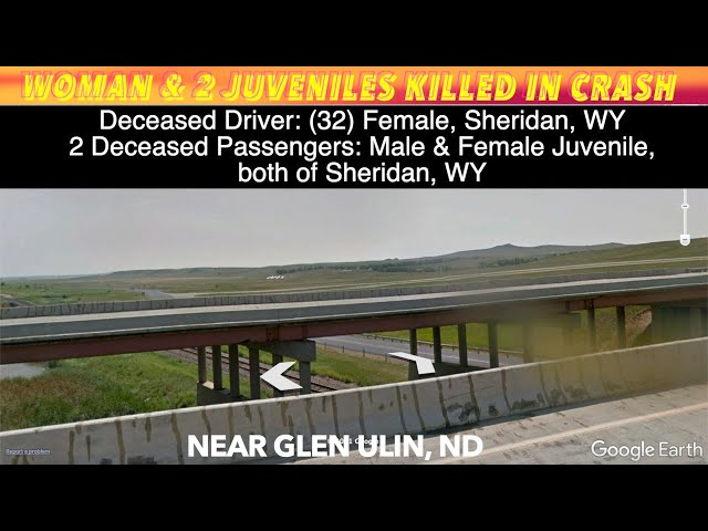 Woman & 2 Children Killed In Western North Dakota Crash