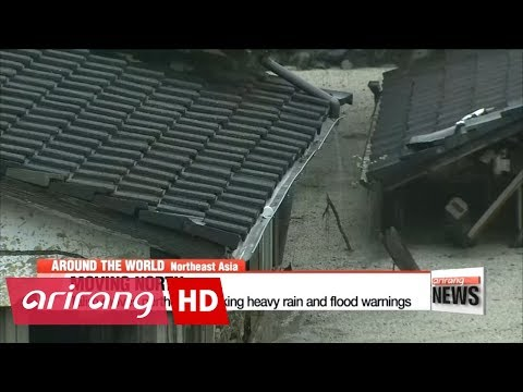 Tropical storm Talim hits Japan