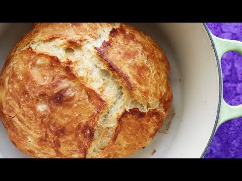 Faster No Knead Bread - So Easy ANYONE Can Make (but NO BOILING WATER!!)