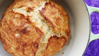 Faster No Knead Bread - So Easy ANYONE can make crusty artisan bread.