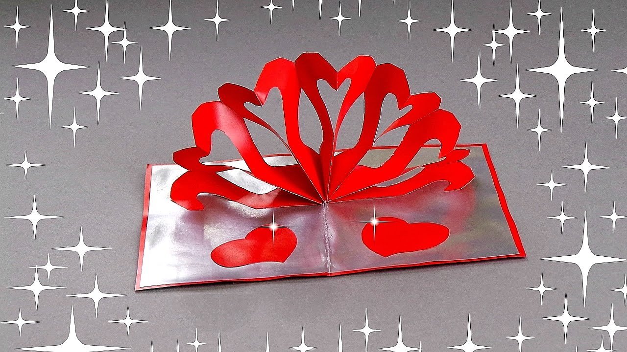 Diy hearts pop up card tutorial diy cards youtube kristyandbryce Images