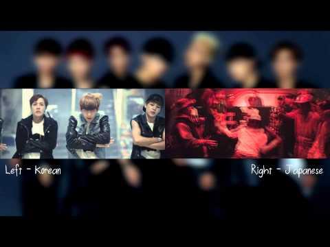 [MV Comparison JPN vs KR] DANGER - BTS (방탄소년단) SPLIT AUDIO