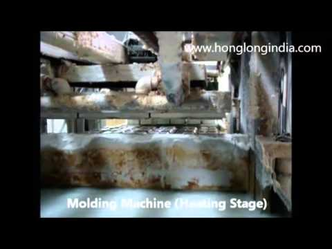 Honglong(INDIA) -Glimpse of Sugarcane Bagasse tableware production line