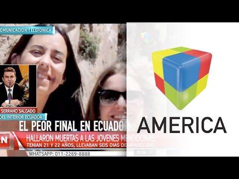 Hallaron muertas a las dos chicas mendocinas que estaban en Ecuador