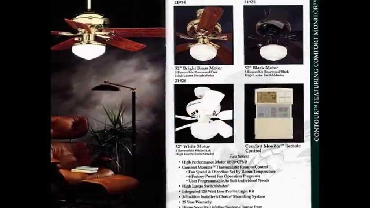 Hunter Ceiling Fan Catalog From 1995 Youtube