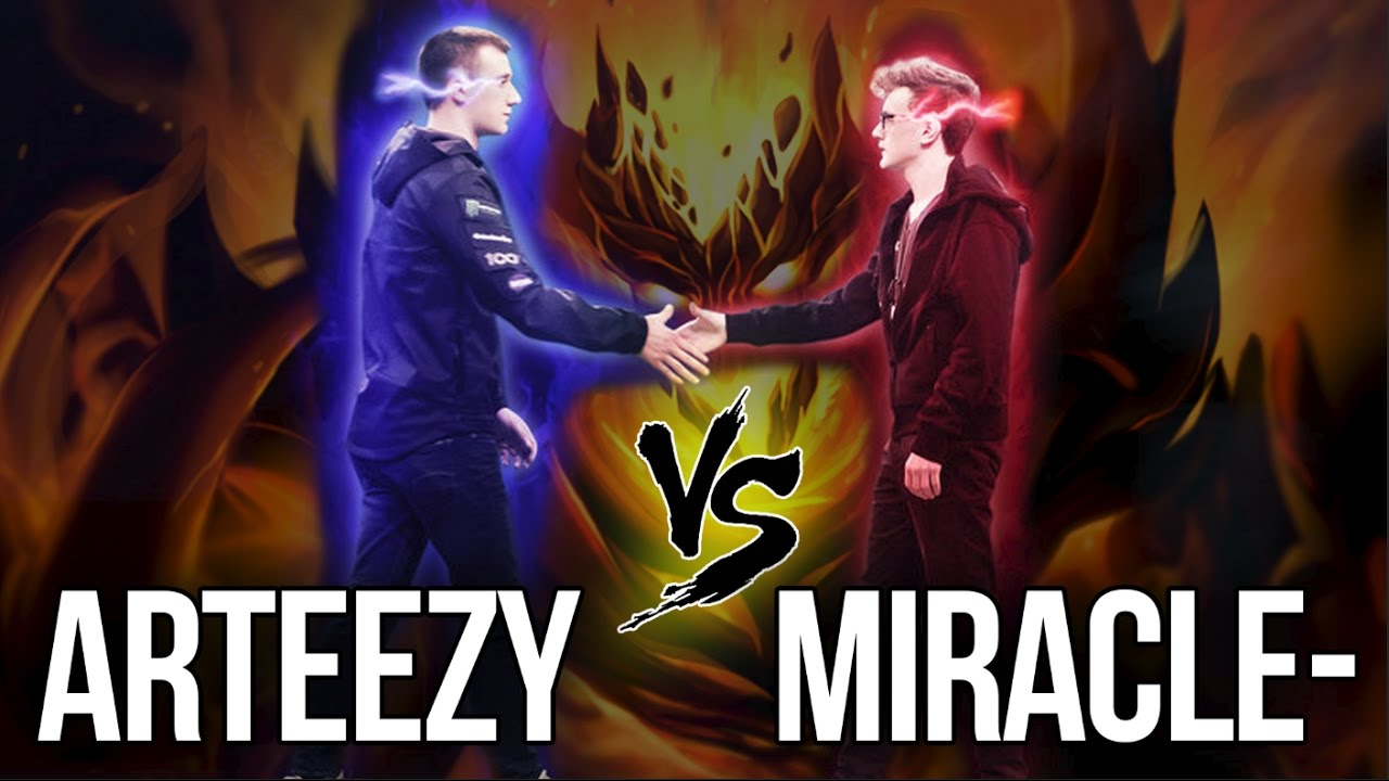 ARTEEZY vs MIRACLE- | 1v1 SOLO MID - DAC DOTA 2 | 9K MMR