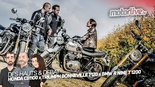 Фото с обложки R Nine T X Cb1100 Rs X Bonneville T120 | Des Hauts & Debat